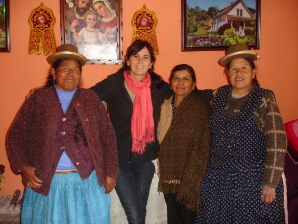 Con Cristina, Nieves y Berta, de izq a der