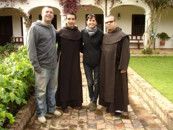 con hector y padre Jorge frailes villa de leiva
