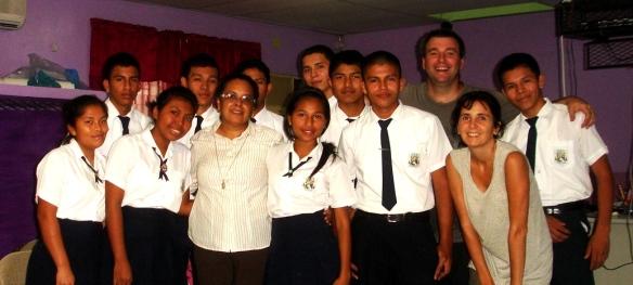 con Hna Mariela y coordinadores