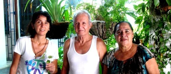 con Maritza y Franklin
