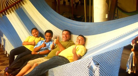 con Rodolfo, Irma y Douglas