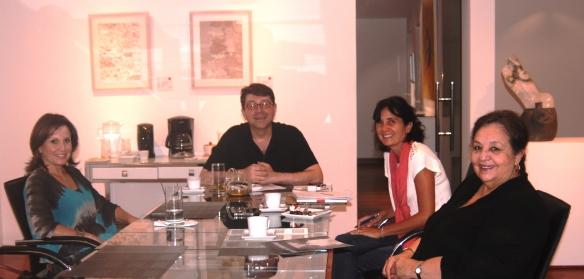 Con María, José y Thelma