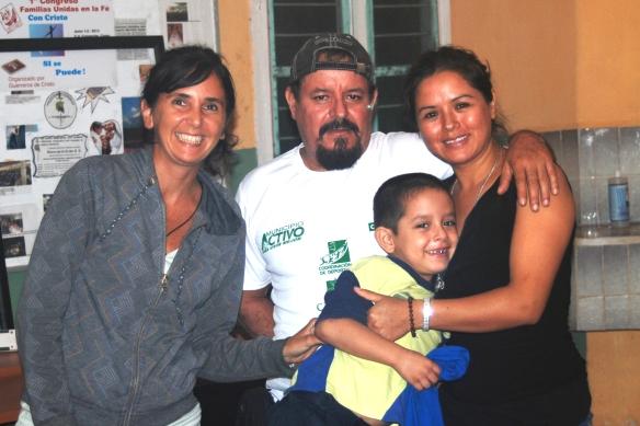 con Antonio, Teresa y Marco Antonio